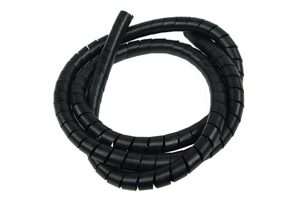 spiral wrap sleeving 12.0mm black