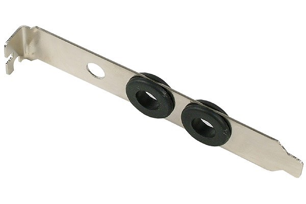 slot cover with 2x grommets for tubing