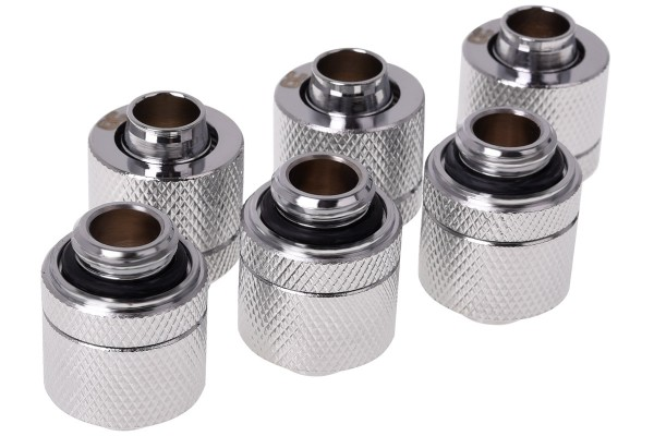 Alphacool HF 13/10 compression fitting G1/4 - chrome sixpack