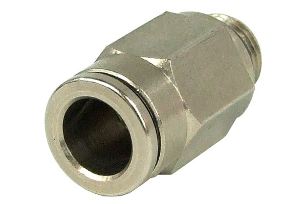 8mm G1/8 plug fitting - complete nickel plated