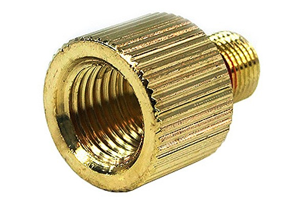 """Phobya Eheim 1046 outlet adaptor to G1/4"""" – knurled – gold plated"""