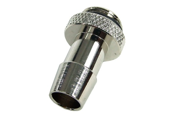 """10mm (3/8"""") fitting G1/4 with O-Ring (High-Flow) - Short - Silver"""